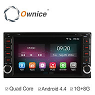 6.95 Inch 2 Din In-Dash Car DVD Player For Toyota Universal with Quad Core CPU Pure Android 4.4.2 GPS Navigation Radio