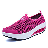 Women's Shoes Casual/Travel/Athletic Fashion Tulle Leather Sport Casual Shoes Fuchsia/Gray/Black
