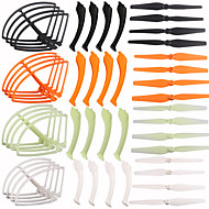 4color/48 Syma X8C X8W X8G  Spare Parts Set 16 Landing Gear+16 Blade Propeller+16 Protect Ring for RC Quadcopter Drone
