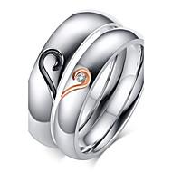 Gyűrűk Születési kövek Esküvő / Parti / Napi / Hétköznapi / Sport Ékszerek Cirkonium / Titanium Acél / Arannyal bevont Pár Vallomás gyűrűk