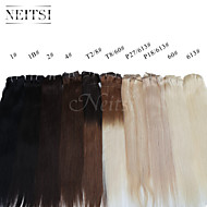 "Neitsi® 20"" 7pcs/Set 100% Real Remy Clip in Human Hair Extensions Straight  Virgin Ombre Hair"