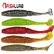 "Afishlure Soft Bait T Tail Soft Grub Lure Packs 1g/1/18 oz 50mm/2-1/8"" 30pcs/lot Sea Fishing/Fly Fishing/Bait Casting"