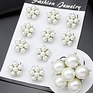 Women's Mini Size Pearl Brooch for Wedding Party Decoration Scarf ,Fine Jewelry