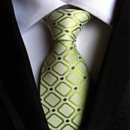 עניבה - משובץ (רשת) ( ירוק , פוליאסטר )