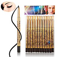 12 Pcs/lot High Quality Waterproof Black Eyeliner Liquid Make Up Beauty Comestics EyeLiner Pencil Gift