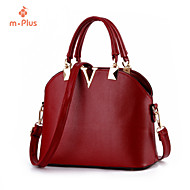 M.Plus® Women's Fashion Solid PU Leather Messenger Shoulder Bag/Tote