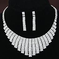 Women's Shiny Elegant Luxury Rhinestone Bridal Sets Bridal Accessories Necklace Earrings Set Wedding Party Gift