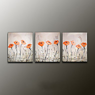 håndmalte blomster / botanisk moderne olje maleri, lerret tre paneler