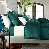 luxury bedding set queen king size bedclothes green color
