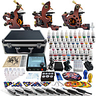 Solong Tattoo Complete Tattoo Kit 3 Pro Machines 40 Inks Power Supply Foot Pedal Needles Grips Tips TK351