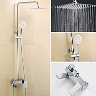 Wall Mounted Single Handle One Hole in Chrome Shower Faucet / Bathroom Sink Faucet