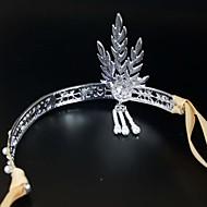 forró stílusú menyasszonyi korona Európában és az USA gumiabroncs női gyöngy fejpánt esküvői kiegészítők