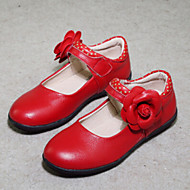 Girl's Flats Spring / Summer / Fall Heels / Comfort Synthetic Outdoor / Dress / Casual Chunky Heel Flower / Magic Tape Black / Pink / Red