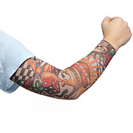 deporte de la moda mangas del brazo ciclo de la bici de la piel cubierta de protección solar brazalete elástico (2pcs)