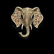 broche moda Elefante do vintage