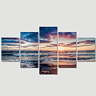 5 Plane Abstract Sea Wave Home Decor Wall Art Canvas Picture Print Painting Cuadros Decoracion Canvas Arts (Unframed)
