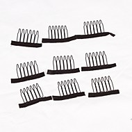Clips For Wig Caps 20Pcs Wig Making Combs Wig Accessories Black Color Wig Clips Combs