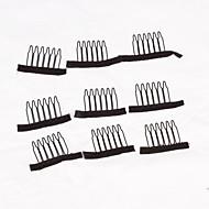 clips para tampas de peruca peruca 20pcs tomada de pentes peruca acessórios cor preta grampos peruca pentes
