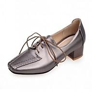Chaussures Femme-Extérieure / Bureau & Travail / Décontracté-Bleu / Vert / Rose / Blanc / Gris-Gros Talon-Talons-Talons-Similicuir