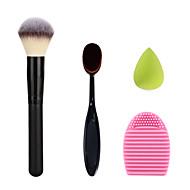 Make-up Zahnbürste Sahnepulver erröten Bürstenwaschreinigungsbürste Ei und grüne kleine Make-up Schwamm
