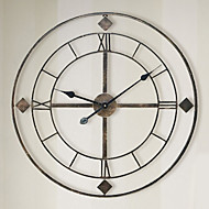 円形 レトロ風 壁時計,その他 鉄 60cm X60cm  (24inchx24inch) X 1PCS