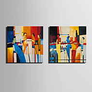 Mini Size E-HOME Oil painting Modern The Man On The Abstract Bar Pure Hand Draw Frameless Decorative Painting