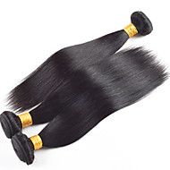 12-28inch brasilianisches reines remy Haar glattes Haar 3pcs viel grade8a natürliche Farbe nicht verarbeitete Menschenhaarverlängerungen