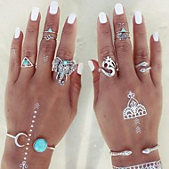 Prstenje sa stavom Midi prstenje Prestenje knuckle ring Moda Personalized Prilagodljivo Legura Animal Shape Triangle Shape Pink Jewelry Za