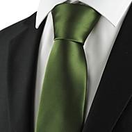 New Solid Militery Green Men Tie Suit Necktie Formal Wedding Holiday Gift KT1013