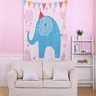 Elephant Tapestry Cartoon Decorative Wall Tapestries Blue and Pink Wall Carpet 1pc 140cmx210cm alfombras salon New