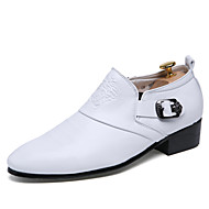 Business British Style Casual Men's High Quality Leather Dress Shoes Closure with Buckle for Party/Office/Wedding