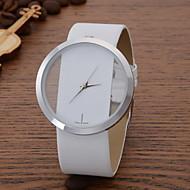 Женские Модные часы Повседневные часы Кварцевый Кожа Группа Черный Белый Синий Красный Коричневый