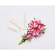 "Wedding Flowers Cascade Lilies Bouquets Wedding Party/ Evening Satin 19.7""(Approx.50cm)"