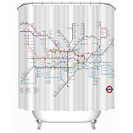 """Moderní Londýn metro mapa sprchové závěsy W71 """"× L71"""""""