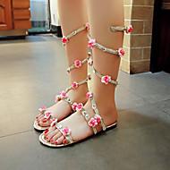 Women's Shoes Flat Heel Open Toe Sandals Dress Pink / Silver / Gold