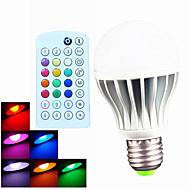 1pcs SchöneColors E26/E27 9W 550LM A60 Dimmable/Music-Controlled/Remote-Controlled/Decorative RGB LED Globe Bulb
