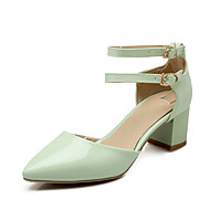 Sandals Spring Summer Fall Other Patent Leather Office & Career Casual Party & Evening Chunky Heel Buckle Green Pink Red White