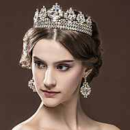 Women's Rhinestone Wedding Bridal Tiaras Earnings Set Party Headpiece HG2302