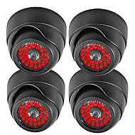 câmeras de segurança cúpula manequim falsos vigilância ir simulado 20 LEDs 4pçs / pacote