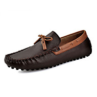 Men's Shoes Outdoor / Office & Career / Casual Leather Loafers Black / Brown / Red / Beige / Navy