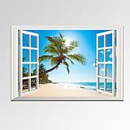 Ihmiste / Leisure / Landscape / Valokuvaus / Moderni / Romantiikka / Matkailu Canvas Tulosta One Panel Valmis Hang,Horizontal