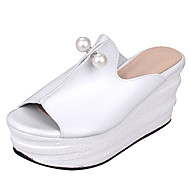 Women's Shoes Platform Creepers / Open Toe Slippers Dress / Casual Black / Pink / White / Silver