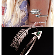 European and American foreign trade folk style feather Malachite Bracelet E1166 triangle