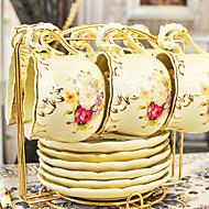 keramický šálek čaje 6 * 2ks odpolední čaj porcelán Britský styl