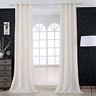 שני פנאלים טיפול חלון מעצב , מוצק חדר שינה פשתן חוֹמֶר וילונות וילונות קישוט הבית For חַלוֹן