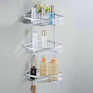 Kylpyhuonehylly Eloksointi Seinään asennettu 57*23*18cm Alumiini Moderni