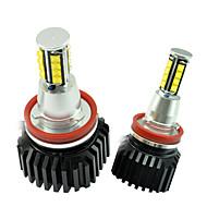 2pcs super brilhante cree 128W LED pode-bus livre de erros anjo olho por e82 habitação aluminimum b-mw
