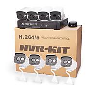 cotier® poe 8-kanaals NVR kits 720p / mini / p2p / H.264 / ip camera n8b7 / kit-poe