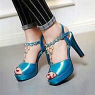 Women's Shoes Chunky Heel Peep Toe / Platform / Open Toe Sandals Party & Evening / Dress / Casual Blue / Green / Purple