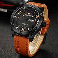 NAVIFORCE® Luxury Brand Men Military Army Fashion Analog Date Day Quartz Leather Watch Fashion Wrist Watch Cool Watch